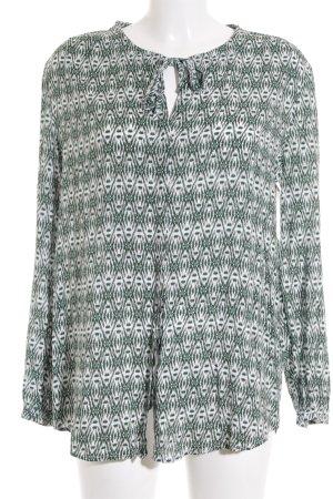 Esprit Tunikabluse weiß-waldgrün Casual-Look