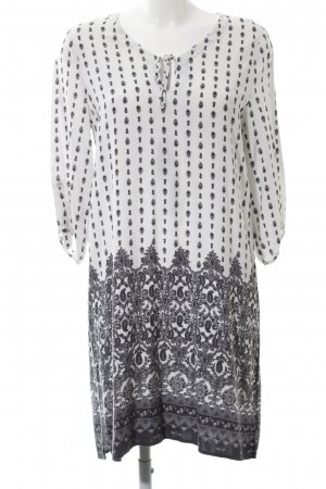 Esprit Tunic Dress natural white-light grey graphic pattern casual look