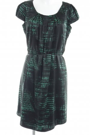 Esprit Tunic Dress black-green houndstooth pattern casual look