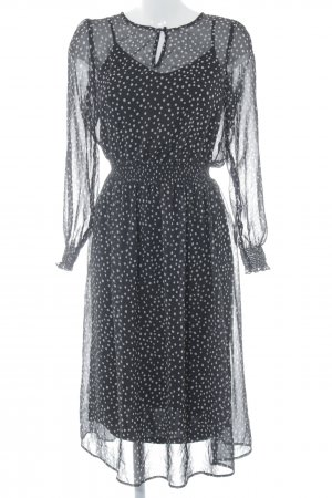 Esprit Tunikakleid schwarz-wollweiß Allover-Druck Gypsy-Look