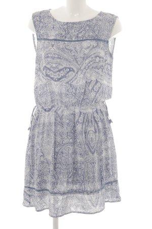 Esprit Tunikakleid stahlblau-weiß abstraktes Muster Boho-Look