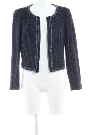 Esprit Tweedblazer schwarz-dunkelblau Webmuster klassischer Stil