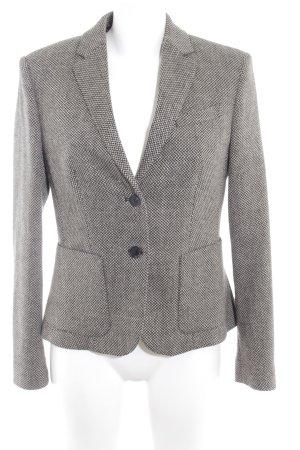 Esprit Tweed blazer zwart-zandig bruin gestippeld zakelijke stijl