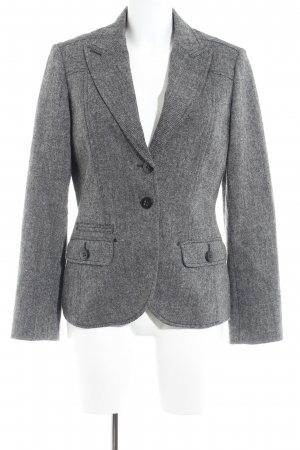 Esprit Tweedblazer schwarz-weiß meliert Business-Look