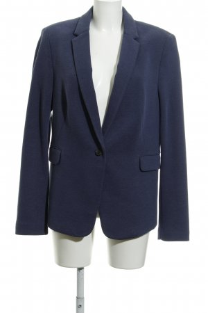 Esprit Tweed blazer staalblauw zakelijke stijl