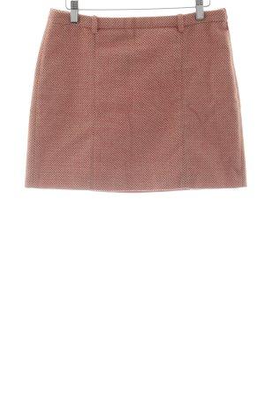 Esprit Falda Tweed rojo-blanco puro Patrón de tejido estilo clásico