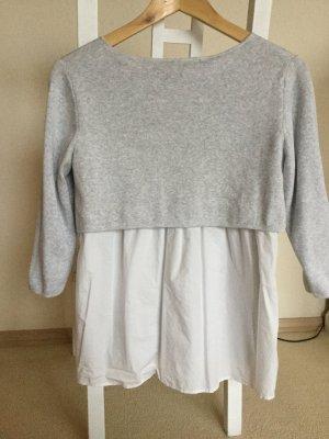 Esprit Short Sleeve Sweater white-light grey