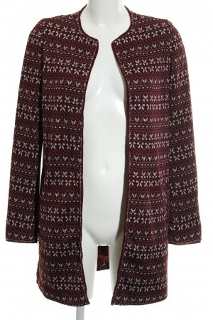 Esprit Veste mi-saison bordeau-blanc cassé motif aztèque style décontracté