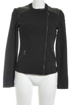 Esprit Übergangsjacke schwarz-dunkelbraun Business-Look