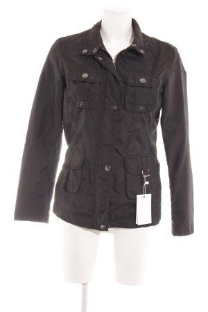 Esprit Übergangsjacke schwarz-silberfarben Casual-Look