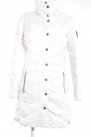 Esprit Übergangsjacke weiß Steppmuster Casual-Look