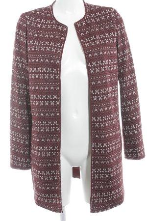 Esprit Between-Seasons-Coat carmine-white abstract pattern casual look