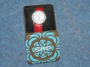 Esprit Horloge baksteenrood