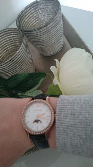 Esprit Uhr, Armbanduhr, rose, Lederarmband
