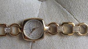 Esprit Uhr gold glitzer strass zirkonia