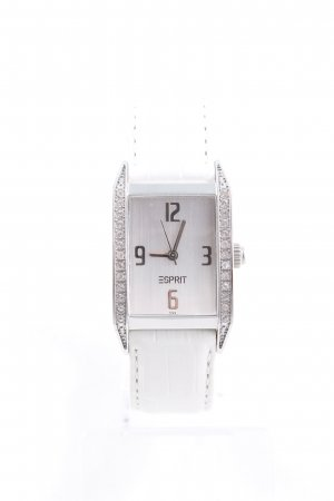 Esprit Watch With Leather Strap natural white-silver-colored casual look