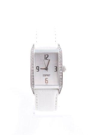Esprit Orologio con cinturino di pelle bianco sporco-argento stile casual