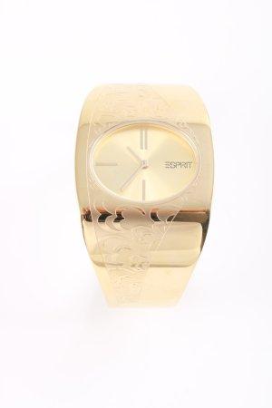 Esprit Montre avec bracelet métallique doré style d'affaires