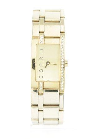 Esprit Uhr mit Metallband goldfarben Casual-Look
