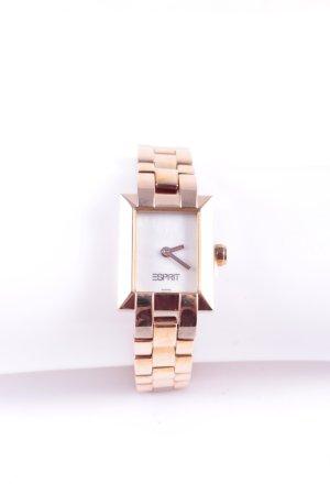 Esprit Uhr mit Metallband roségoldfarben Glanz-Optik