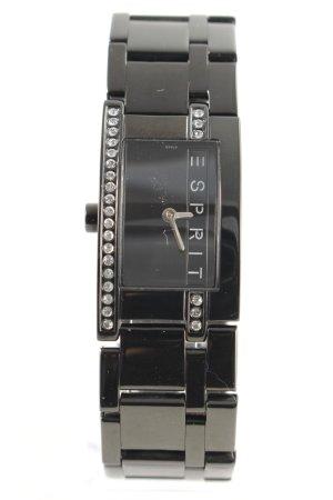 Esprit Uhr mit Metallband schwarz Casual-Look