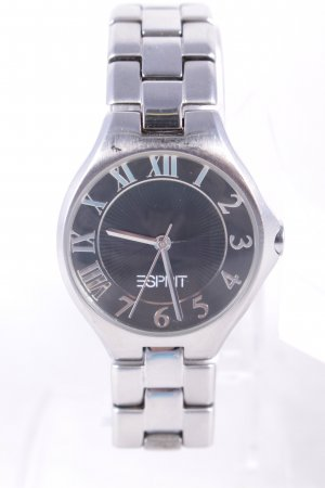 Esprit Uhr mit Metallband silberfarben-anthrazit klassischer Stil