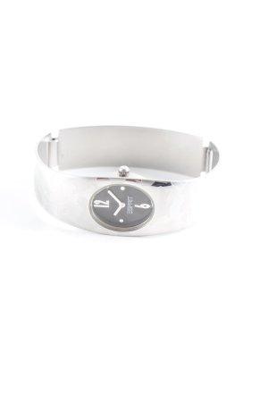 Esprit Uhr mit Metallband silberfarben Camouflagemuster Glanz-Optik