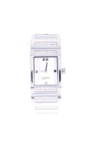 Esprit Uhr mit Metallband silberfarben Glanz-Optik