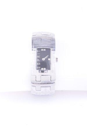 Esprit Uhr mit Metallband silberfarben-schwarz Glanz-Optik