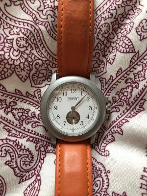 Esprit Uhr mit orangenem Lederband