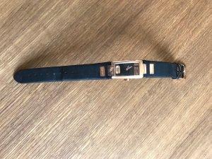Esprit Uhr mit schwarzem Lederarmband