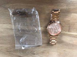 Esprit Reloj con pulsera metálica color oro-color rosa dorado