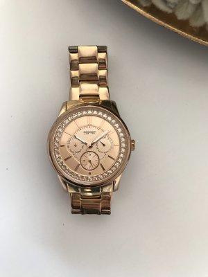 Esprit Reloj con pulsera metálica color rosa dorado