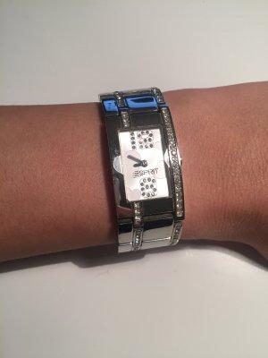 Esprit Uhr silber mit Glitzersteinen