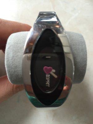 Esprit Uhr Silber Zifferblatt schwarz