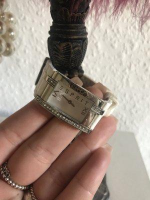 Esprit Uhr weißes Gummiband Zirkonia