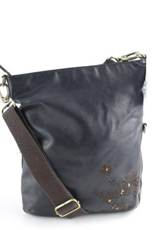 Esprit Bandolera marrón oscuro estampado floral estilo extravagante