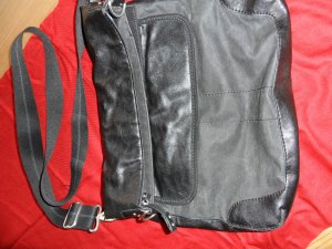 Esprit Gekruiste tas zwart-azuur Imitatie leer