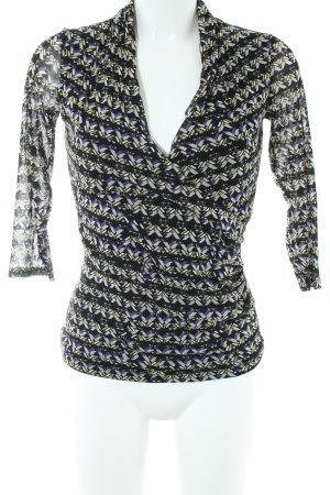 Esprit V-Ausschnitt-Pullover Allover-Druck Casual-Look