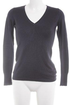 Esprit V-Ausschnitt-Pullover dunkelblau Casual-Look