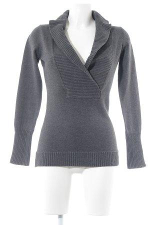Esprit V-Ausschnitt-Pullover dunkelgrau Casual-Look
