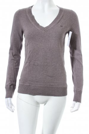 Esprit V-Ausschnitt-Pullover dunkelgrau klassischer Stil