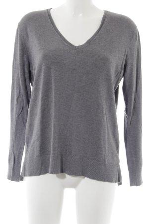 Esprit V-Ausschnitt-Pullover grau Casual-Look