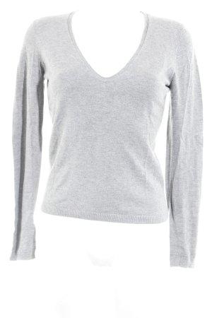 Esprit V-Ausschnitt-Pullover grau meliert Casual-Look