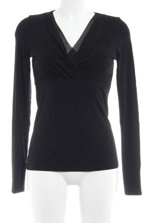 Esprit V-Ausschnitt-Pullover schwarz Casual-Look