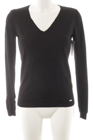 Esprit V-Ausschnitt-Pullover schwarz klassischer Stil