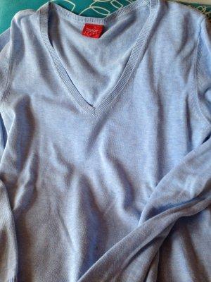 ESPRIT V-Pullover, himmelblau, Gr. M