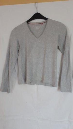Esprit V-hals shirt lichtgrijs