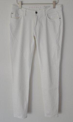 Esprit verschlankende Stretch Jeans weiß Gr. 40 | 32