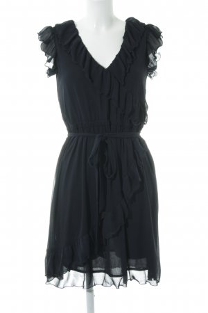 Esprit Vestido estilo flounce azul oscuro elegante